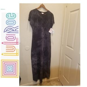 NWT LuLaRoe Maria Maxi Dress Tie Dye Gray